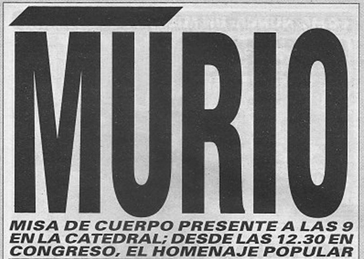 Tapa del Diario Crónica del 2 de Julio de 1974